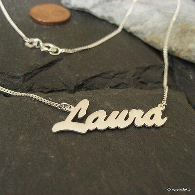 >>> 1 Namenskette mit Wunschname, 925er Silber, Buchstabenanzahl & Länge wählbar ()