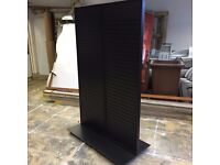 2 Slat Display Stand's/Shelving On Wheels - Self Standing - Quality Item