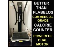 COMPARABLE TO FLABELOS, GR8 CONDITION DUAL MOTOR VIBRATION VIBRATING POWER PLATE MACHINE