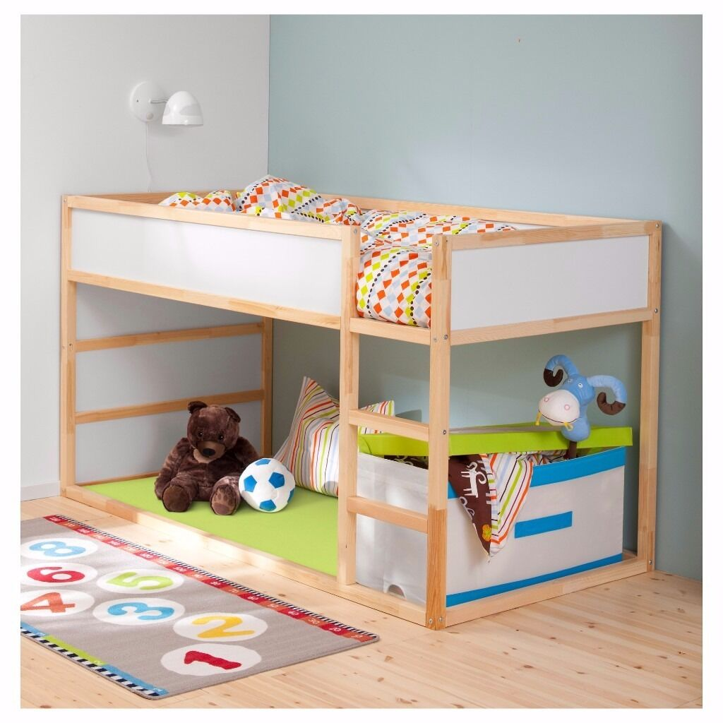 Ikea Childrens Bed Frame Includes Tent For The Top And Bumpers For