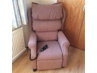 Dual control riser recliner chair in excellent condition