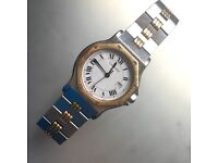 Cartier Santos Watch Bi- colour Good Condition full automatic Date PX Swap
