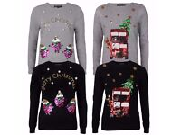 Ladies Christmas Jumper NEW All sizes 8 to 16