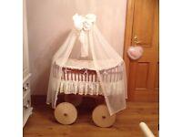 Bassinet Crib Moses Basket Cradle Cor