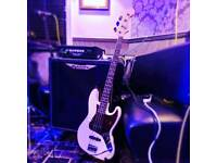 American standard jazz bass with amp