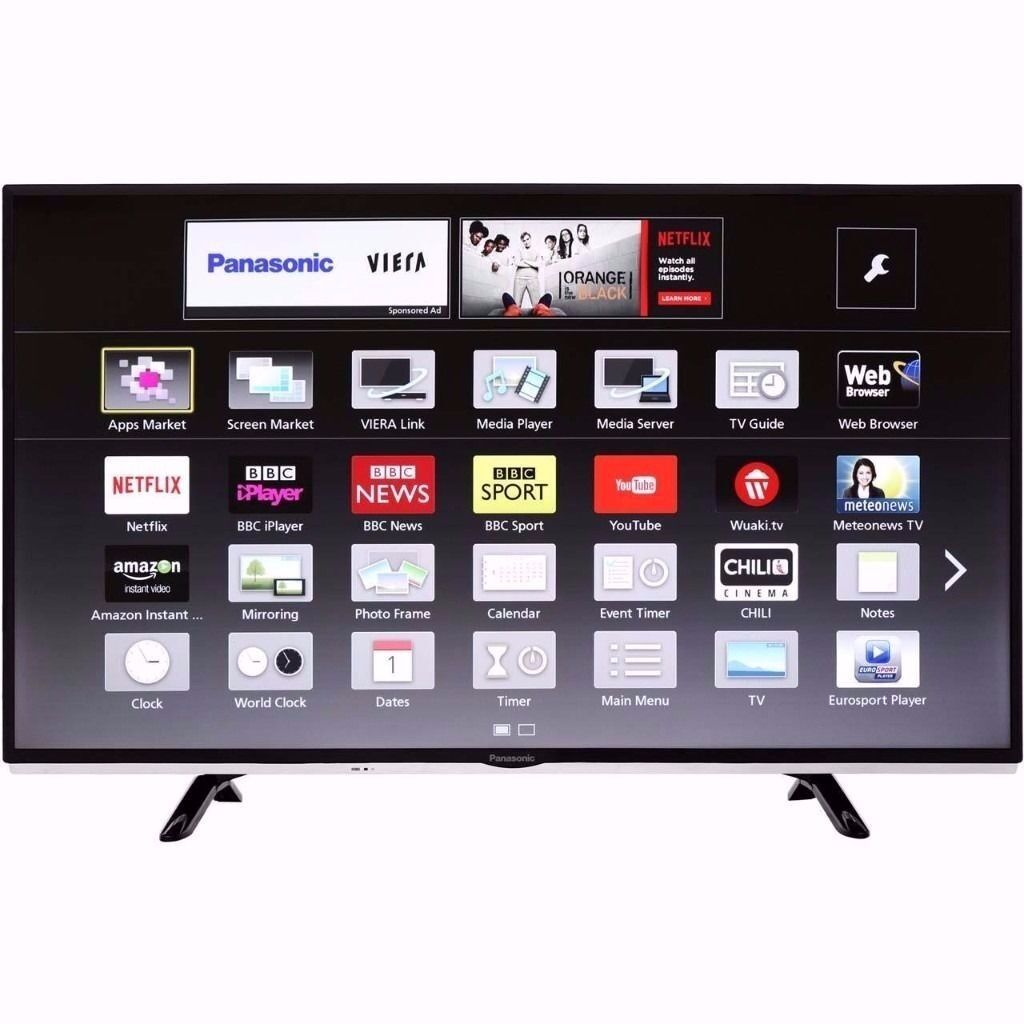 panasonic tv 40 inch. panasonic tx-40ds400b 40 inch smart led 1080p full hd freeview tv 2 hdmi tv