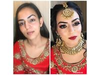 Asian bridal party hair and makeup artist. Offers on. Pro make up artist.