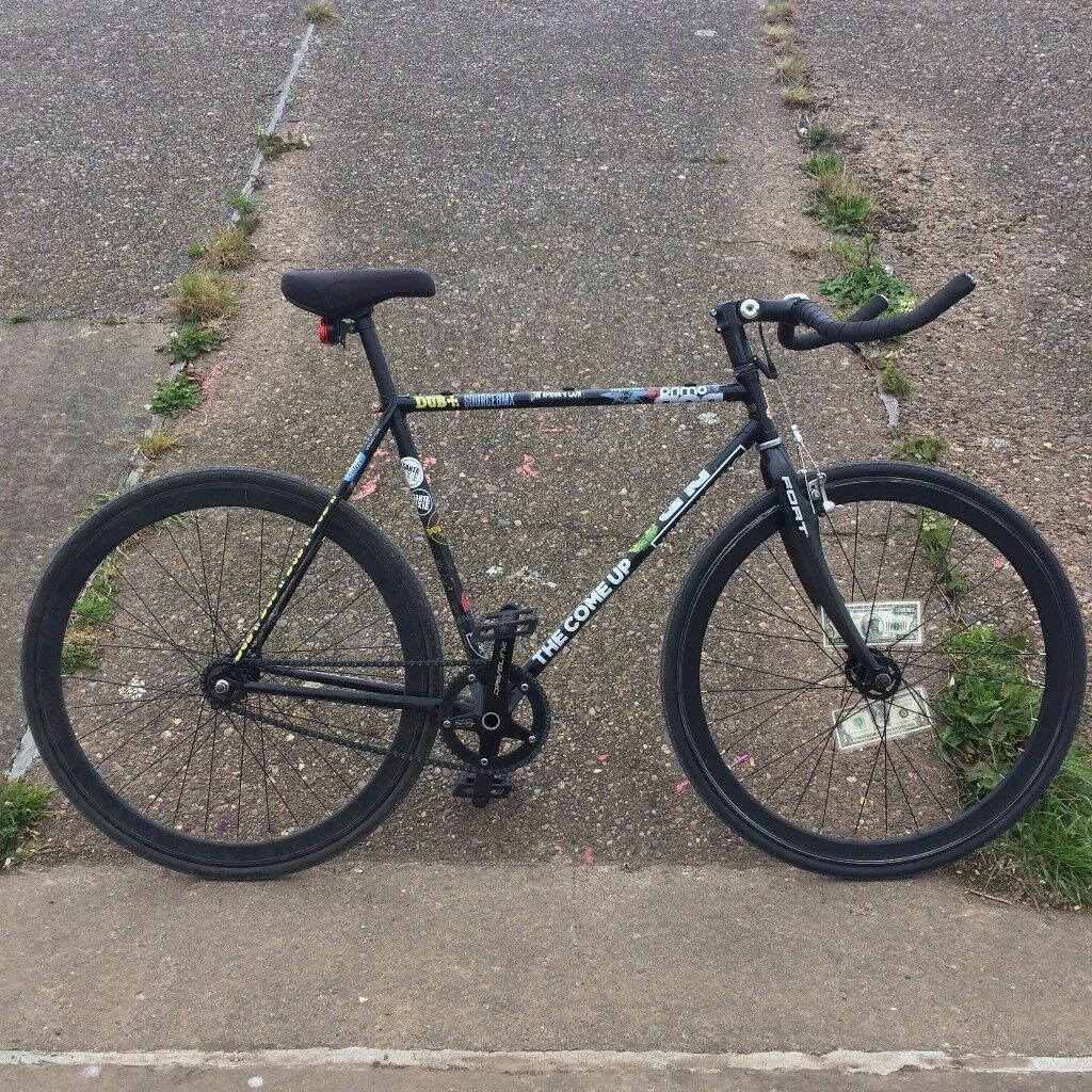 Full Custom Raleigh Road Bike Single Speed Fixie Carbon Forks Hollow Tech Bottom Bracket & Cranks
