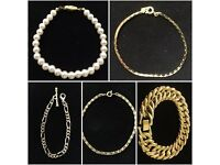 Gold Plated Costume Jewellery Bracelets - New & unworn - Job lot 150 pcs