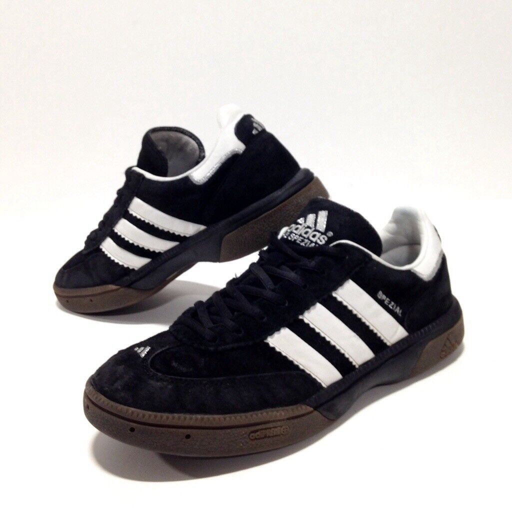 fbdc492797e adidas mens SPEZIAL Handball Trainers size 8 Black Vintage Samba Indoor  Soccer Shoes EU 42