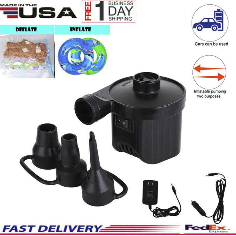 Portable Air Mattress Pump Quick-fill Inflator Deflator Air