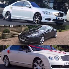 Pearl White Bentley Flying Spur Hire