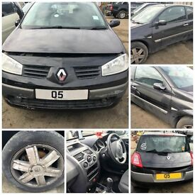 Renault Megane Dynamique DCI 80 3 Door 2005 1.5 Black Hatchback (Bonnet) all parts available