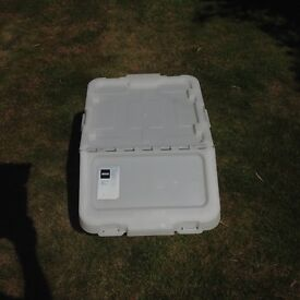Recycling/Storage container with hinged lid £4