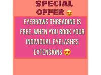 Threading, waxing, Tinting, eyelashes extensions , facial massage