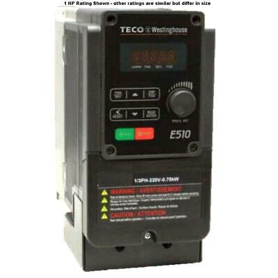 1 Hp 3 Phase 460 Volts Teco Nema 1ip20 Variable Frequency Drive E510-401-h3-u
