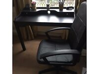 Desk and swivel chair