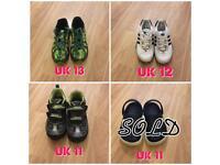 Kids shoes (adidas, new balance, geox & crocs)