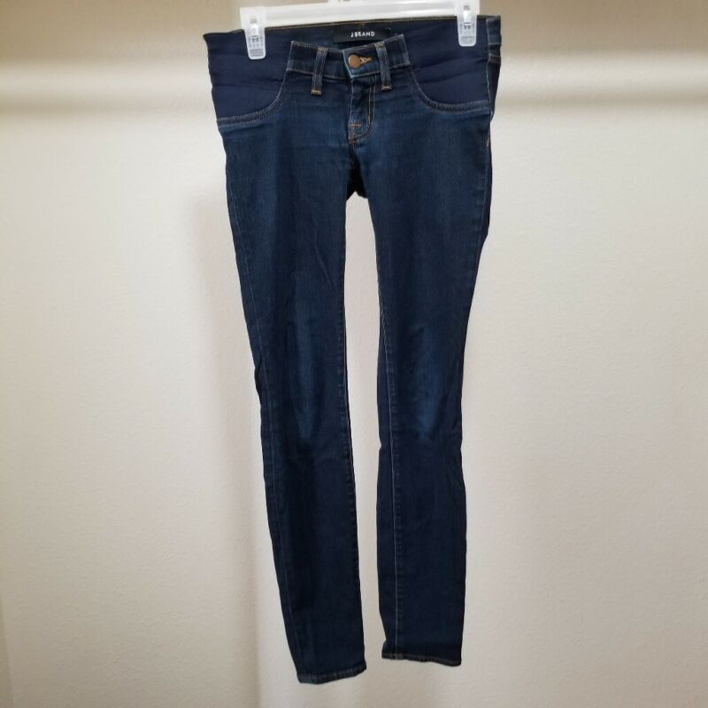 J Brand Maternity Jeans Super Skinny  Mama J Size 26 Starless Dark Wash Blue