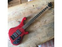 Retrovibe Zygote bass, mahogany in transparent red