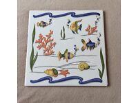 Bathroom Tile - Colourful Fish Tile 30cm x 30cm