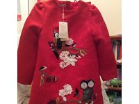 New dress, hand made owls and trees appliqués age 10-12