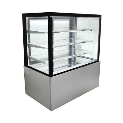 Refrigerated Glass Sided Bakery Cake Display Case - Floor Standing - 48 Wide