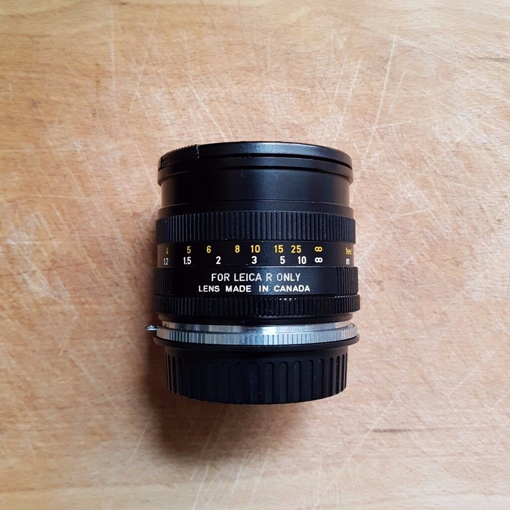 Leica 50mm f/2 Summicron-R - Excellent Condition with Leather case and Canon EF adapter