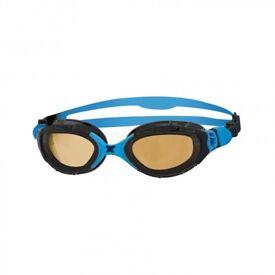 new n opened zoggs predator flex polarized ultra swimming goggles