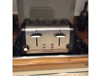 Cookworks Signature 4 slice toaster - Stainless steel