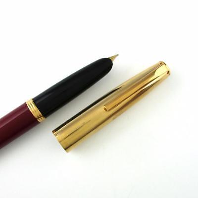 Aurora Duo Cart Bordeaux w/ Gold Trim Fountain Pen  - Medium 14K Gold Nib