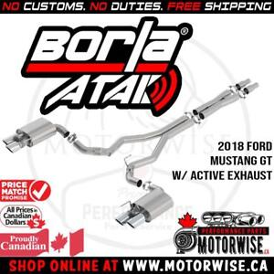 Borla ATAK Active Catback Exhaust System | 2018 Ford Mustang GT | Free Shipping |Shop & Order Online at www.motorwise.ca