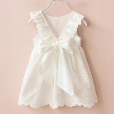 new style 78360 d8fef neu Kleid weiß Design - Kinder Baby Taufe festlich Spitze