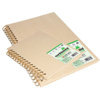 Earthbound Sketchbook - Daler Rowney Earthbound Recycled Paper Sketchbook - A4 Wirebound