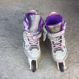 Girls & Boys Roller Blades, Size 2.5-5