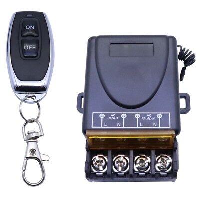 Funk Ein-/Ausschalter Fernbedienung 230V AC An Lichtschalter 30m Schwarz Weiß