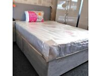 🌈🌈ALL SIZES AVAILABLE🌈🌈 BRAND NEW DOUBLE DIVAN BASE WITH SEMI ORTHOPEDIC MATTRESS