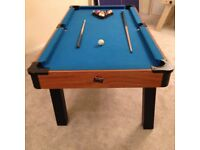 6ft pool table - mdf base with blue cloth