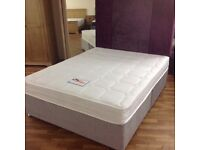 DOUBLE BED WITH POCKET SPRUNG MATTTRESS AND DRAWERS