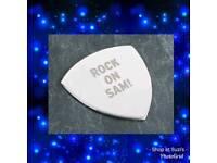 Personalised guitar plectrum plec pick