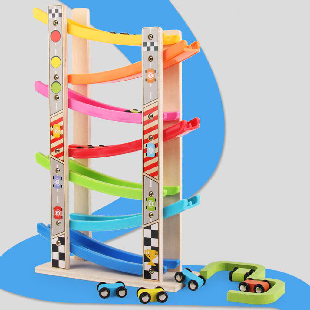 wooden 7 layer ramp race track