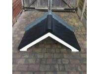 GRP porch canopy with no more maintenance tile affect easy fit
