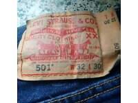 """Levi 501 waist 32"""" Dark Navy Jeans"""