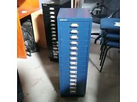 Bisley 15 filing system in blue