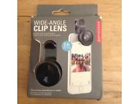 Clip-on wide-angle lens for phones & tablets