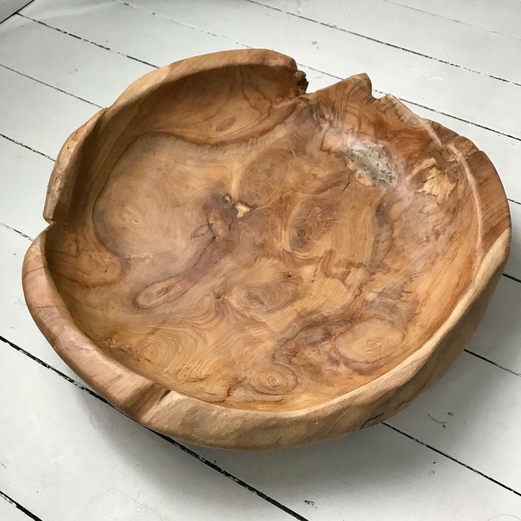 Newborn posing bowl wooden bowl