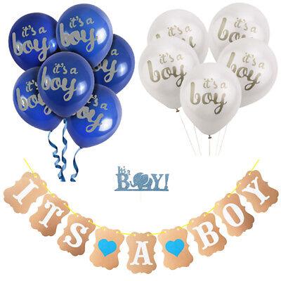 Baby Dusche Party Dekorationen Latex Ballons Banner Kuchen Topper Kit