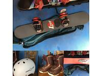 Snowboard plus K2 Boots and Helmet for Sale