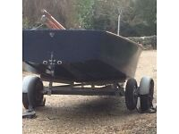 Heron Dinghy for Sale. A classic little dinghy with all the kit, plus trailer.