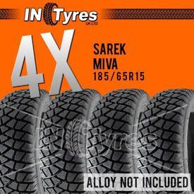 4x 185/65R15 Sarek Miva Alaska Tyres 185 65 15 Shore60 Autograss Rally Track x4